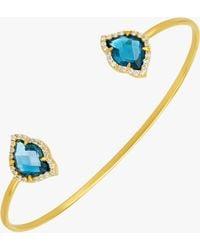 Amrapali - Nalika Lotus Topaz Cuff Bracelet - Lyst