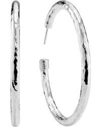 Ippolita - Classico Large Hammered Hoop Earrings - Lyst