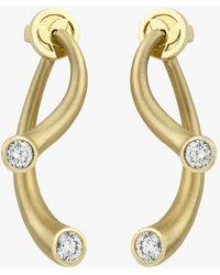 Carelle - Whirl Diamond Earrings - Lyst