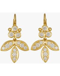 Temple St. Clair - Foglia Earrings With Diamond Pavé - Lyst