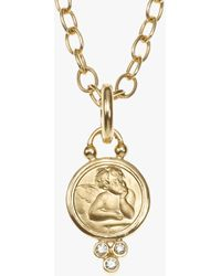 Temple St. Clair - Angel Pendant With Diamond - Lyst