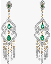Amrapali - Emerald Chandelier Earrings - Lyst