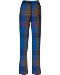 Missoni - Checked Wool-blend Wide-leg Pants - Lyst