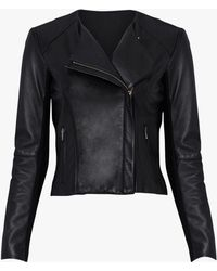 VEDA - Dali Smooth Leather Jacket - Lyst