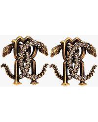 Roberto Cavalli - Serpent Logo Earrings - Lyst