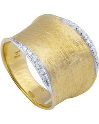 Marco Bicego - Lunaria Gold Diamond Pavé Ring - Lyst