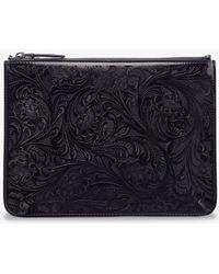 Ralph Lauren Collection - Laser Leather Pouch - Lyst