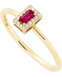 Alison Lou - R Diamond Stack Ring - Lyst