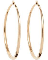 Roberto Coin - Gold Hoop Earrings - Lyst