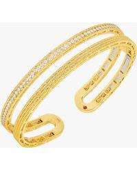 Roberto Coin - Symphony Barocco Diamond Bangle Bracelet - Lyst