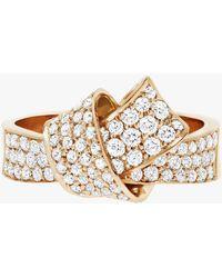 Carelle - Knot Pavé Diamond Ring - Lyst