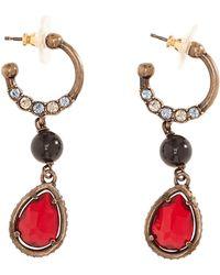 Roberto Cavalli - Rhinestone Hoop Earrings - Lyst