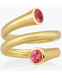 Carelle - Whirl Red Spinel Spiral Ring - Lyst