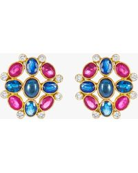 Amrapali - Ruby And Sapphire Earrings - Lyst