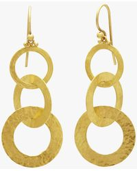Gurhan - Triple Drop Mango Link Earrings - Lyst