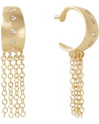 Meira T - Gold Fringe Earrings With Diamonds - Lyst