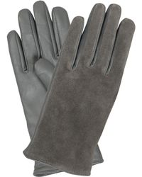 Oliver Bonas - Suede Leather Mix Gloves - Lyst