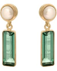 Oliver Bonas - Moapa Freshwater Pearl Gold Plated Drop Earrings - Lyst
