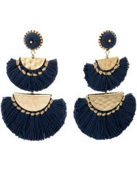 Oliver Bonas - Beatrice Half Moon Statement Tassel Earrings - Lyst