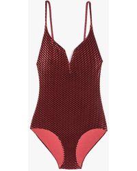 08822279f6b67 Onia - Gloria Diamond Velvet One Piece Swimsuit - Lyst