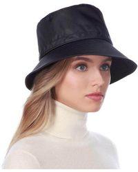 a24fd309b56db Eric Javits Croc-embossed Rain Hat in Black - Lyst