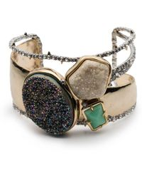 Alexis Bittar - Druzy Stone Cluster Cuff Bracelet - Lyst