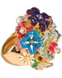 Kenneth Jay Lane - Multi-color Flower Ring - Lyst