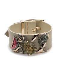 Alexis Bittar - Fruit Studded Leather Bracelet - Lyst