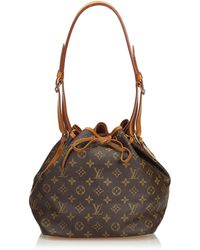 cfed590872f2 Lyst - Louis Vuitton Petit Noe Bucket Shoulder Bag in Pink