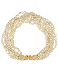 """Kenneth Jay Lane - Pearl Lion Head Necklace 18"""" - Lyst"""