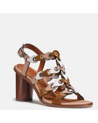 11988d1ff916 Lyst - Tory Burch Gemini Link Leather Block-heel Slingback Sandals ...