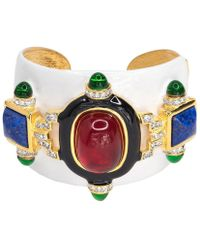 Kenneth Jay Lane - White And Ruby Cuff - Lyst