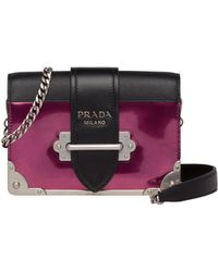 4b109a073575 ... where to buy prada cahier leather shoulder bag lyst a67d6 5befd
