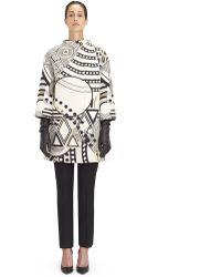 Lanvin - Jacquard Wool Coat - Lyst