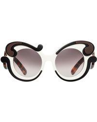 277b4682f58e Prada Baroque Sunglasses in Black - Lyst