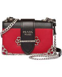 e1e9cec5f592 Lyst - Prada Laser-cut Cahier Shoulder Bag in White