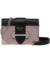 d6d74ed1188c Lyst - Prada Cahier Velvet   Leather Shoulder Bag in Black