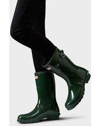 102a91e2c52 Lyst - HUNTER Women's Original Short Gloss Rain Boots in Gray