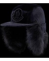 6888ded0bd0 Lyst - Moncler Fur Hat in Black