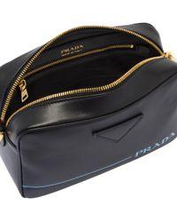 0c6cb9c4e01512 Lyst - Prada Large Leather Shoulder Bag in Black
