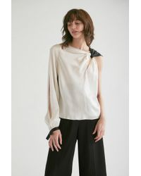 Yigal Azrouël - One Shoulder Knotted Top - Lyst