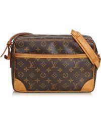 36567412a788 Lyst - Louis Vuitton Monogram Trocadero 30 Shoulder Bag Brown M51272 ...