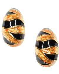 Kenneth Jay Lane - Tiger Stripe Clip Earrings - Lyst