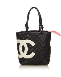 576a70f721bb Lyst - Chanel Luxe Ligne Zip Top Tote Calfskin Large in Pink