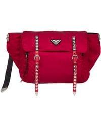 291c216709c7 Prada Solid Nylon Belt Bag in Red - Lyst