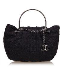 60b5622a822e Chanel - Tweed Boucle Knitting Handbag - Lyst