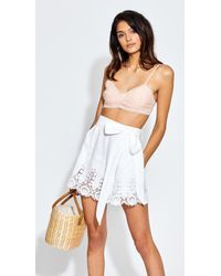 Miguelina - Liana Dragonfly Roselle Embroidered Shorts - Pure White - Lyst
