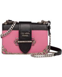 b3702ea0783c Lyst - Prada Cahier Small Velvet Shoulder Bag