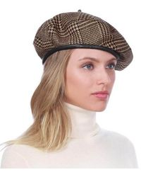 b2f1c98e99dbc Lyst - Eric Javits Kate Houndstooth Beret in Brown