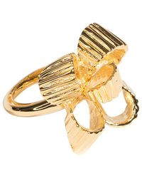 Kenneth Jay Lane - Polished Gold Bow Ring - Lyst